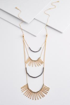 layered stick necklace
