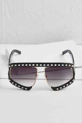 pearl split shield sunglasses