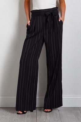 pin stripe palazzo pants