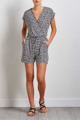 black and white leopard romper