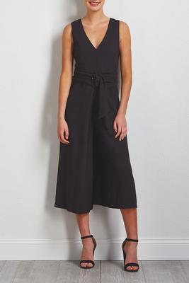 solid belted jumpsuit
