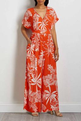 tropical crepe jumpsuit