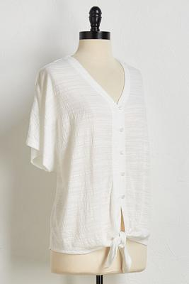 textured knotted top