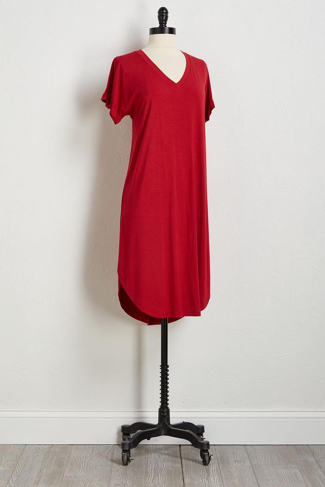 Solid Tee Shirt Midi Dress
