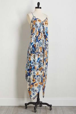 floral sharkbite maxi dress