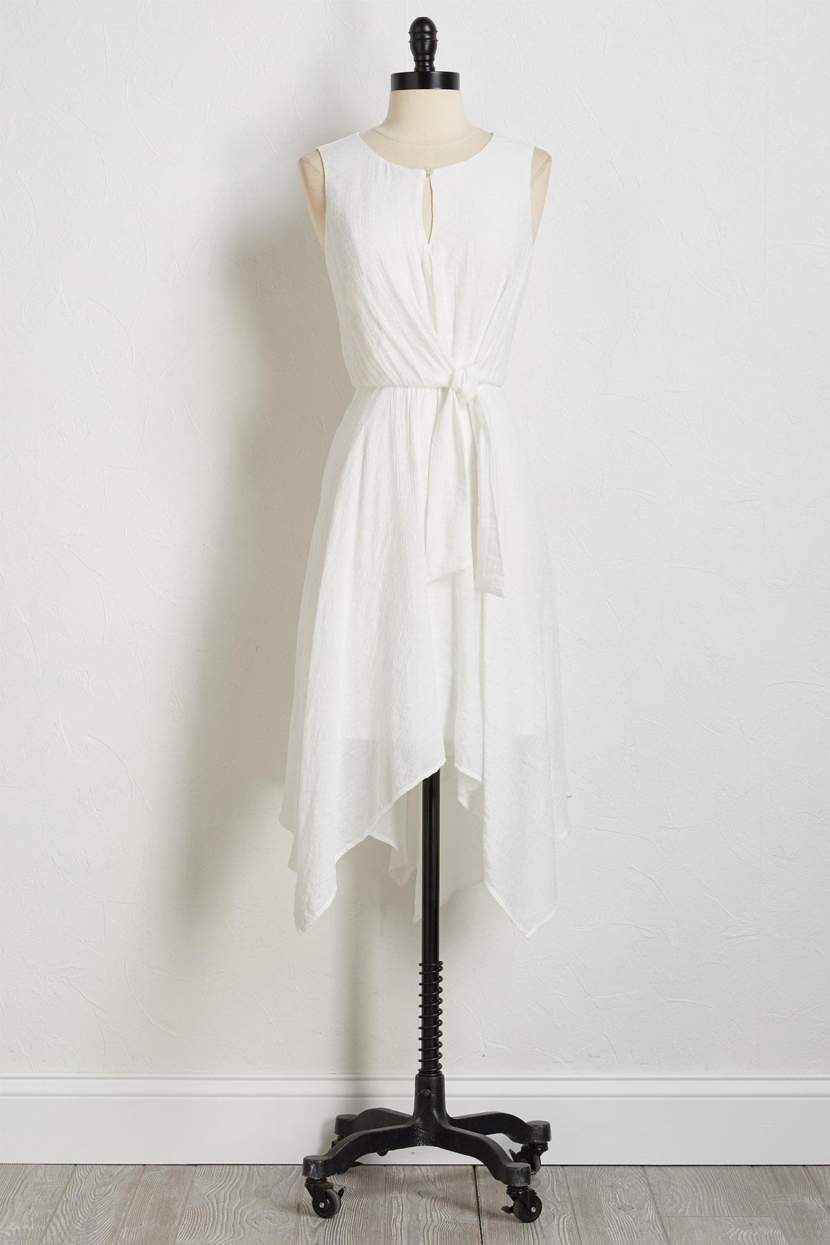 Side Tie Midi Dress