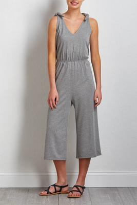 cropped gray jumpsuit