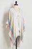 Rainbow Jacquard Kimono