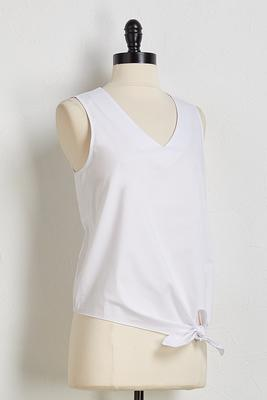 cotton tie front top