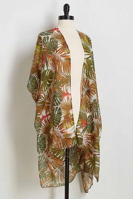 jungle print kimono