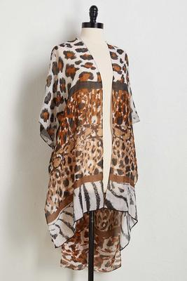 breezy leopard kimono