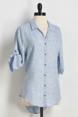 blue snakeskin tunic
