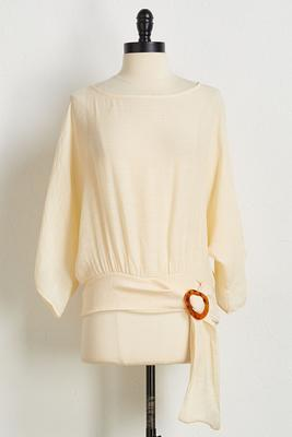 gauzy tortoise ring tie top