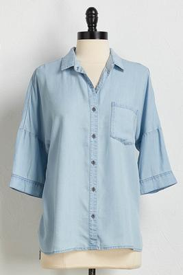 denim daze button down shirt