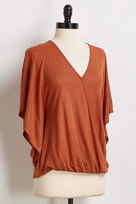 shimmer wrap top
