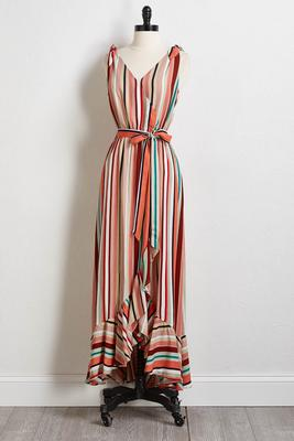 bow shoulder maxi dress