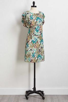 tropical flutter dress