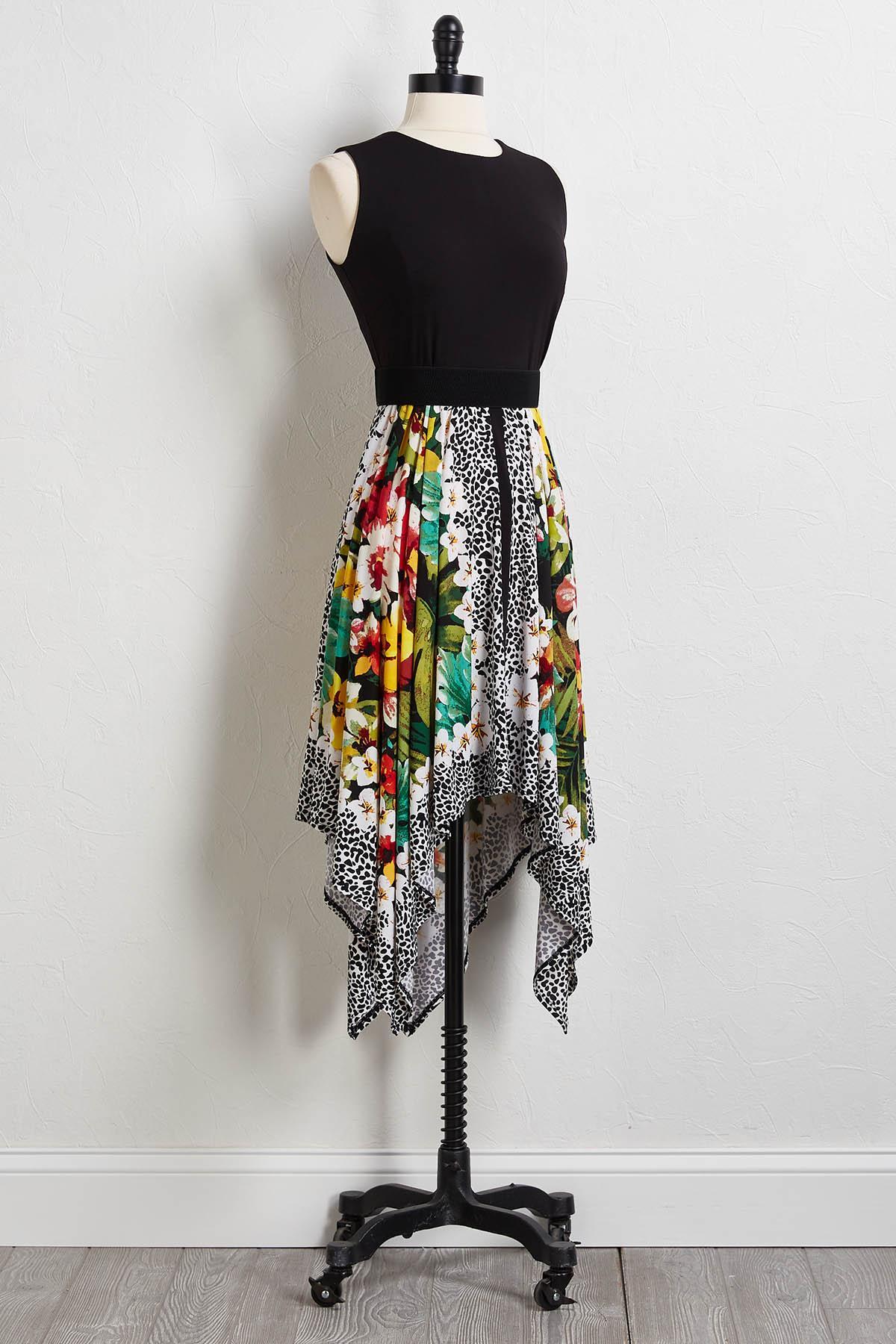 Belted Sharkbite Dress