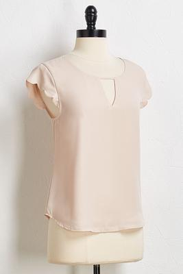 seaside scalloped top