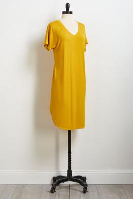 solid tee shirt dress