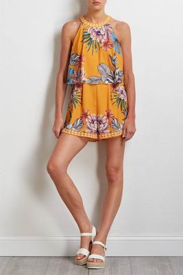 golden tropical romper
