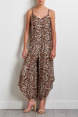 leopard genie jumpsuit