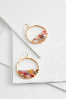 half lucite hoop earrings