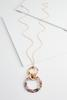 Linked Lucite Pendant Necklace