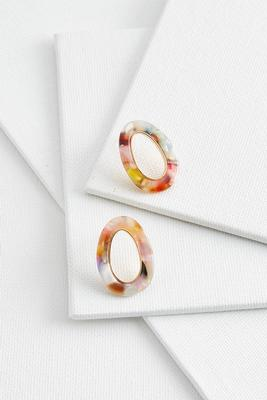 lucite oval post earrings