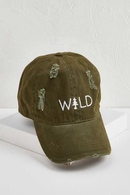 distressed wild baseball hat