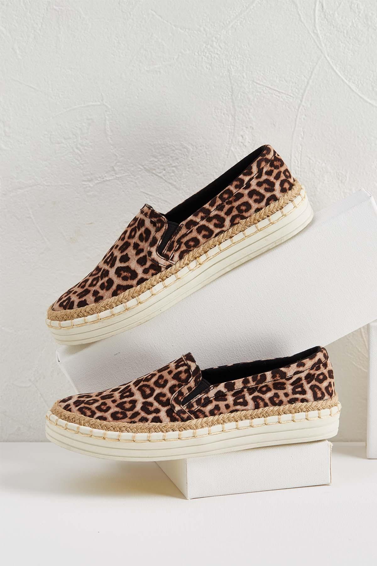 Jute Leopard Sneakers