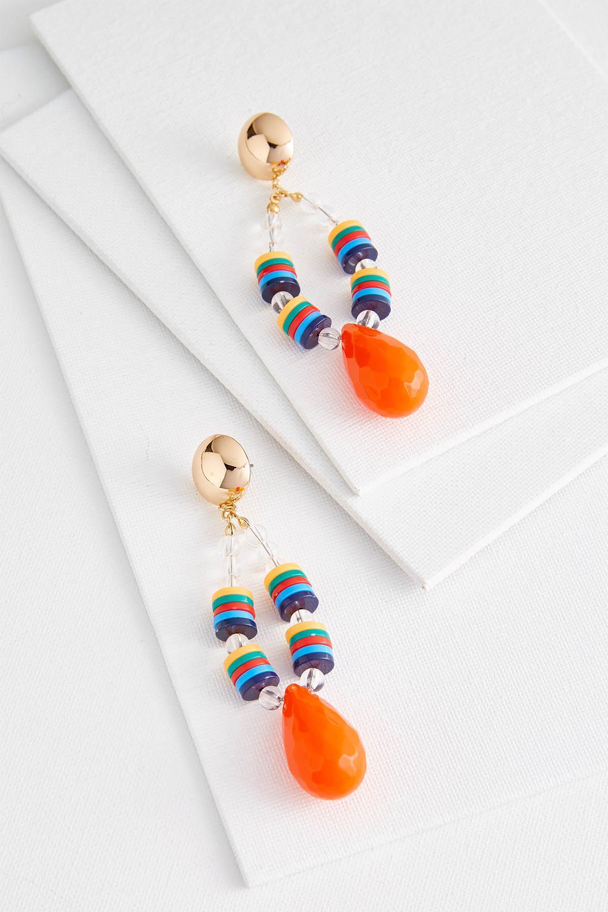 Beautiful Bright Beaded Earrings