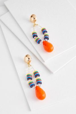 beautiful bright beaded earrings