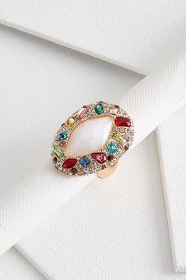 multi stone stretch ring