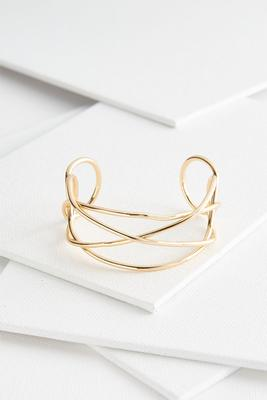 swirly gold cuff