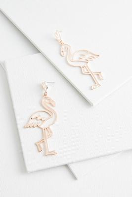 rose gold flamingo earrings