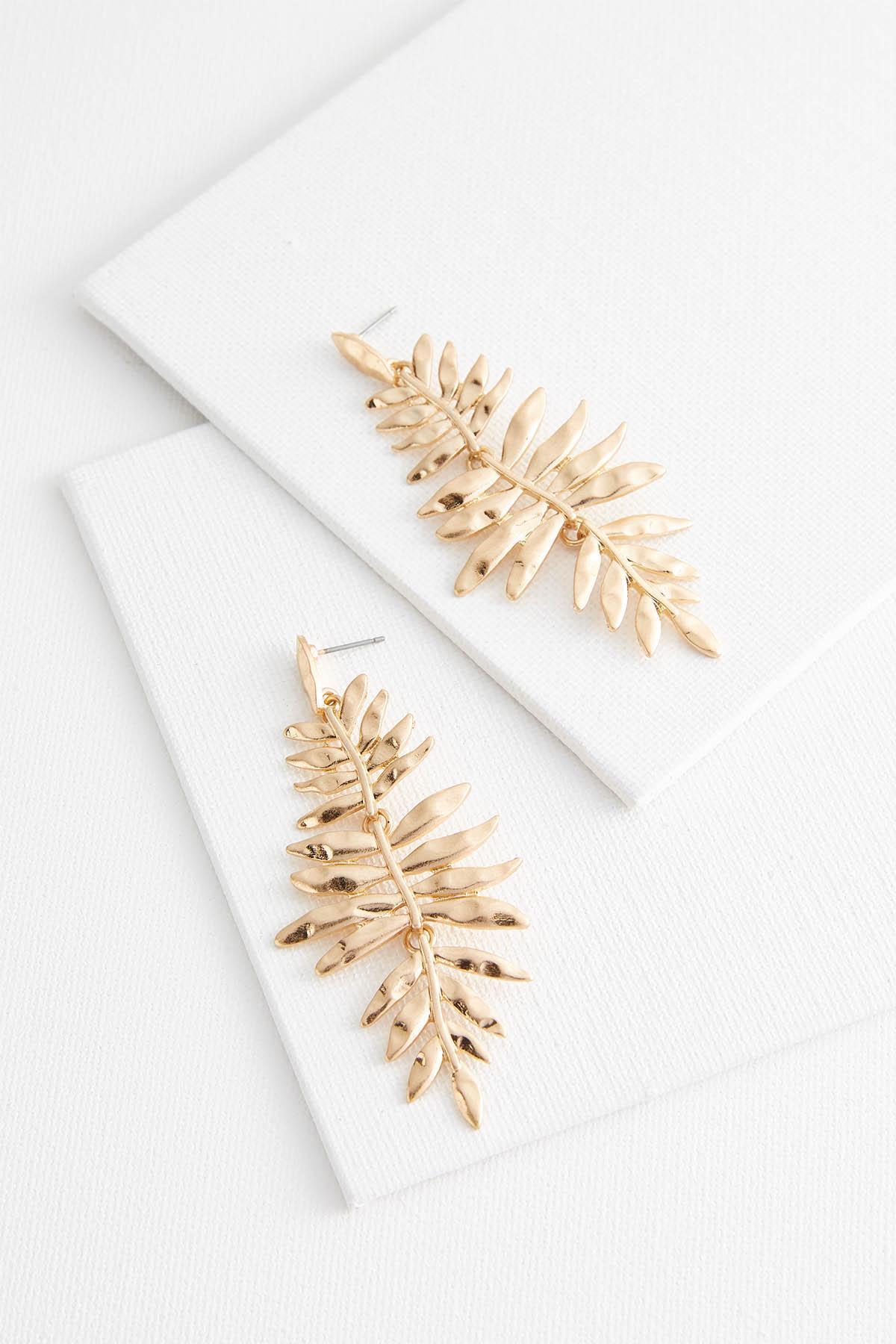 Casted Leaf Chandelier Earrings