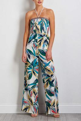 smocked island dream jumpsuit