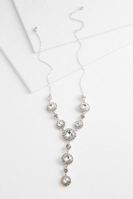 cushion stone y-necklace