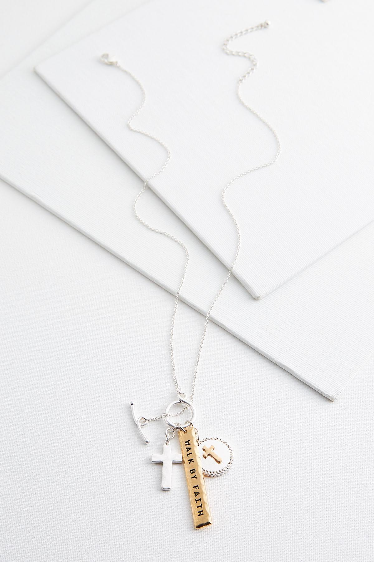 Walk By Faith Cluster Necklace