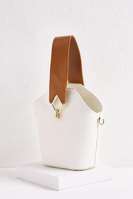 two-toned geo bag