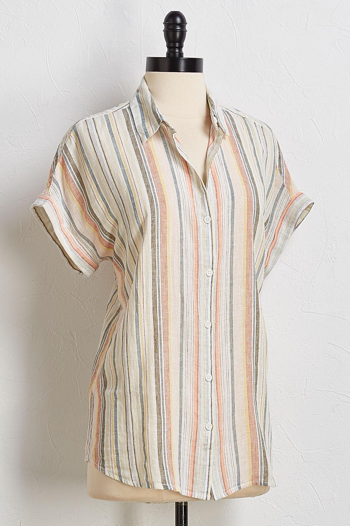 Beach Breeze Linen Top