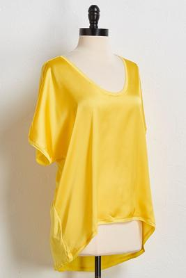 lemon drop satin tee