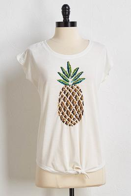 pineapple sequin tee