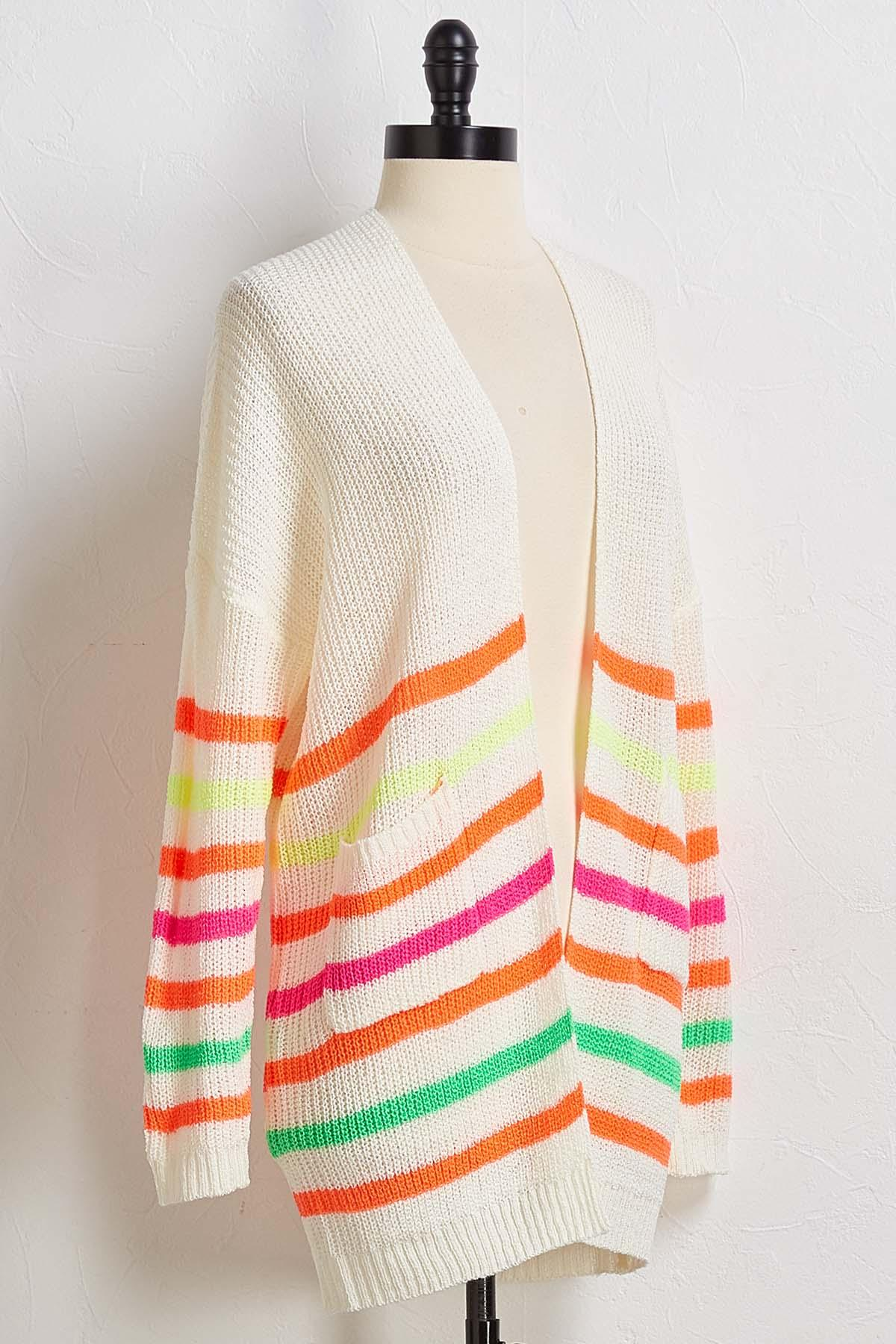 Neon Striped Cardigan