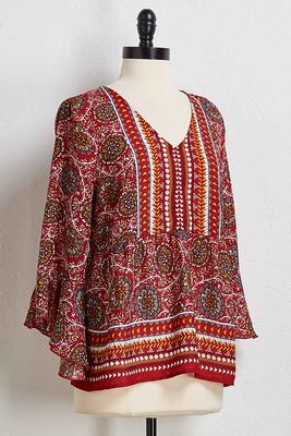 free spirit bell sleeve top