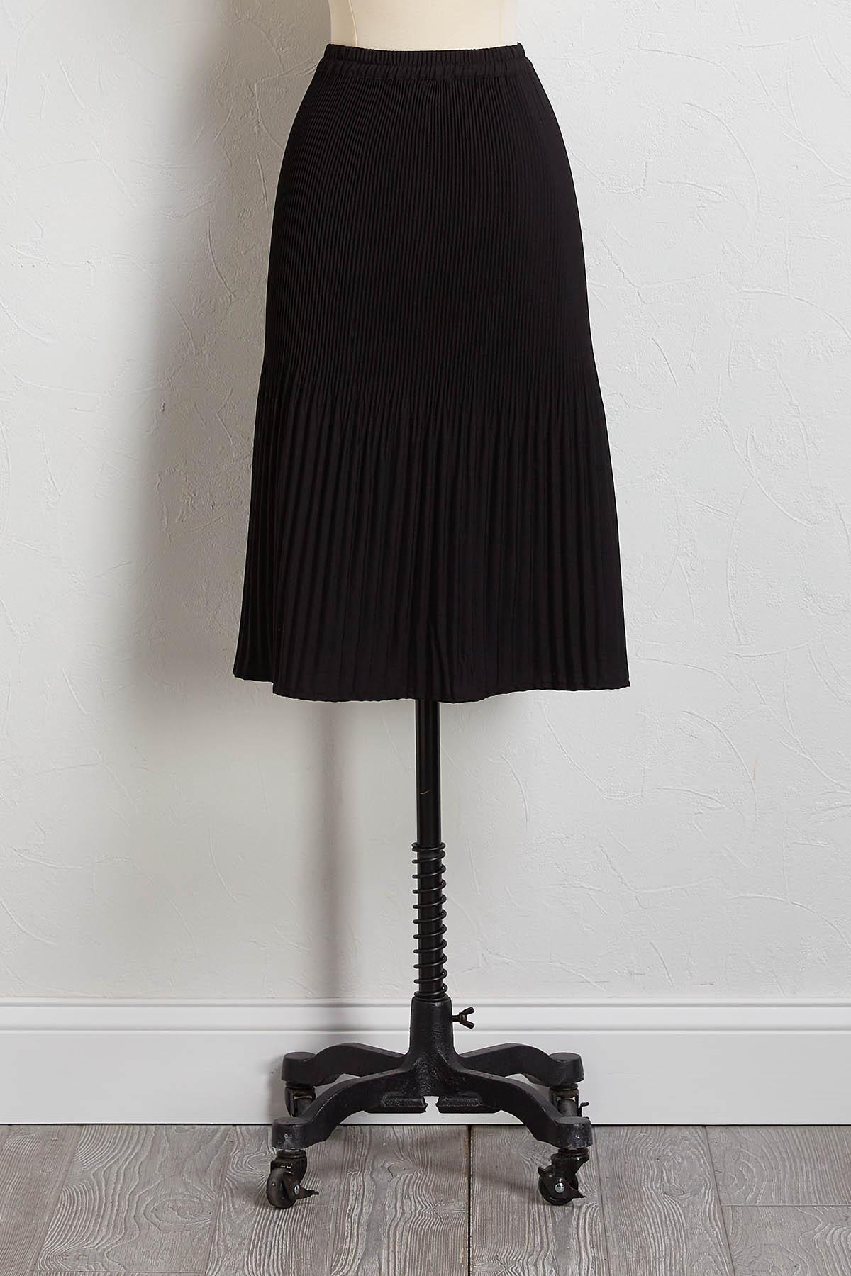 Yes Pleats Midi Skirt