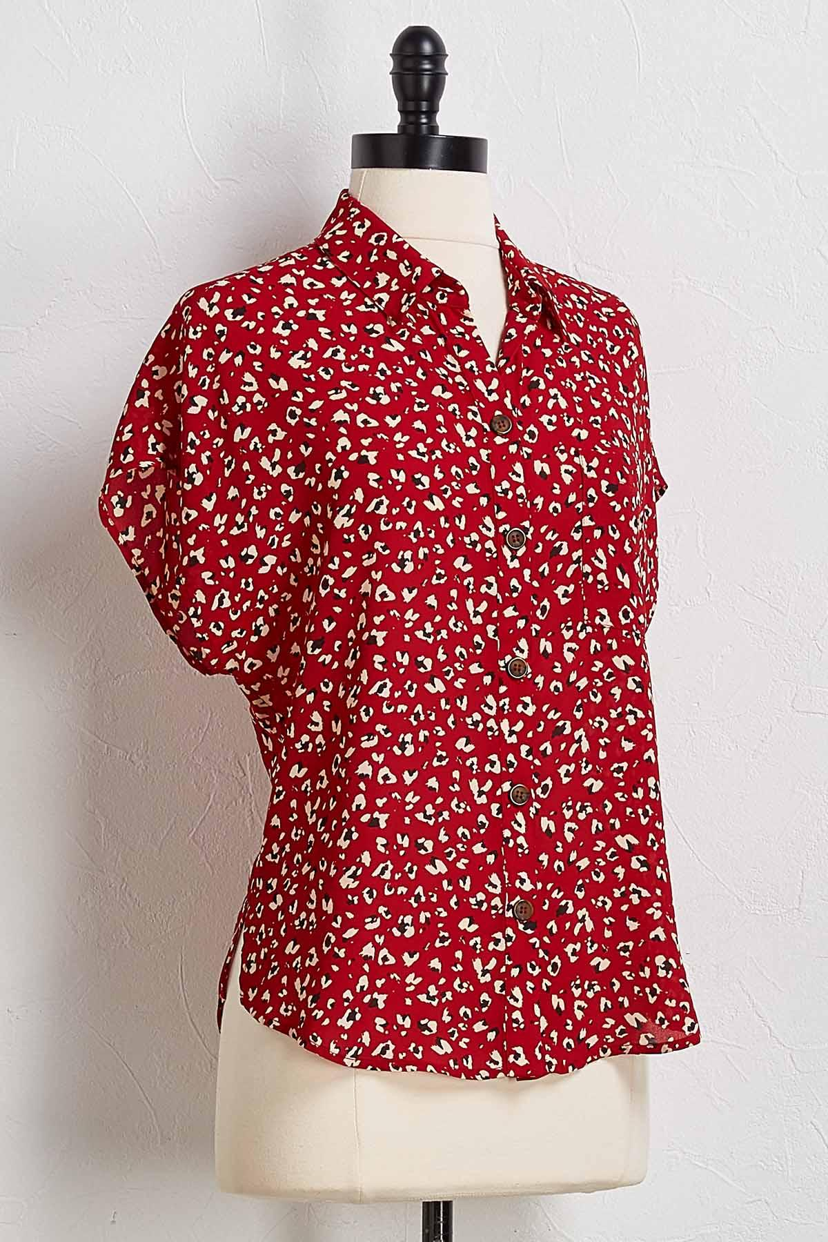 Seeing Spots Button Down Top