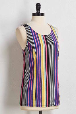 ribbed stripe tank