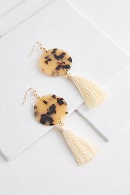tasseled tort earrings